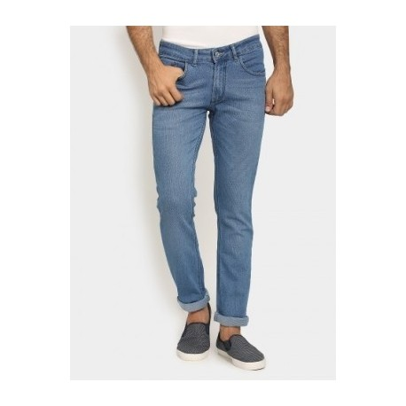 Bare Denim Regular Fit Casual Jeans - Sky Blue