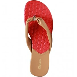 Bata Beige Flat Cushion Ladies Chappal