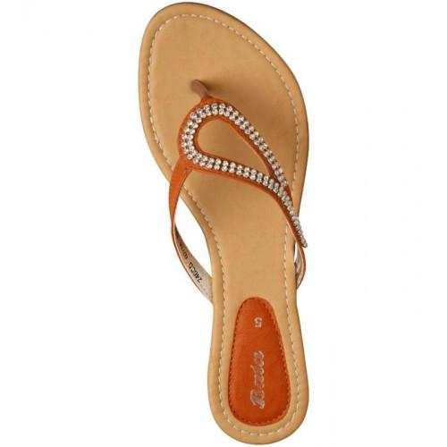 Bata Beige Flat Ladies Chappal