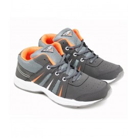 Lancer Shoes - Grey Orange Sports Shoes For Men