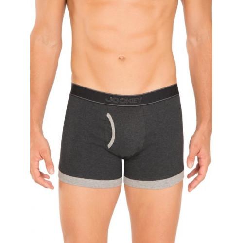Jockey Black Melange & Grey Melange Fashion Trunk - Pack of 2 - Style 1017