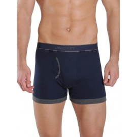 Jockey Navy & Charcoal Melange Fashion Trunk - Style 1017