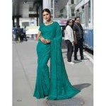 Subhash Sarees - Floral Work Green Georgette Saree - Nyassa 7