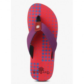 WOODLAND RED CASUAL FLIP FLOPS