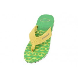 WOODLAND BRIGHT GREEN CASUAL FLIP FLOPS