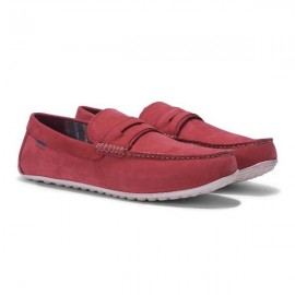 WOODLAND RED LOAFERS