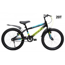 KIDS CYCLE - HERCULES STREET CAT PRO 20T - MATTE BLACK WITH BLUE/GREEN